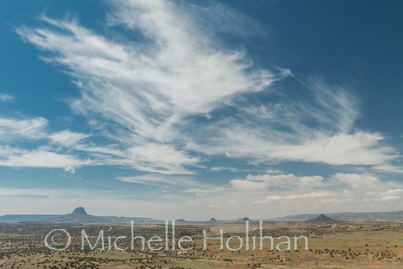 Cabezon Peak from the Empedrado Wilderness Study Area, New Mexico.