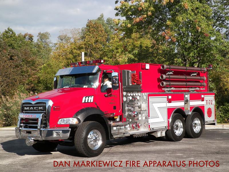 TYLERSPORT FIRE CO. TANKER 72 2009 MACK/SWAB TANKER