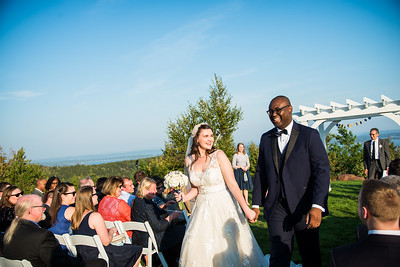 Kate & Isaiah: Married at the Summit at Point Lookout Resort
