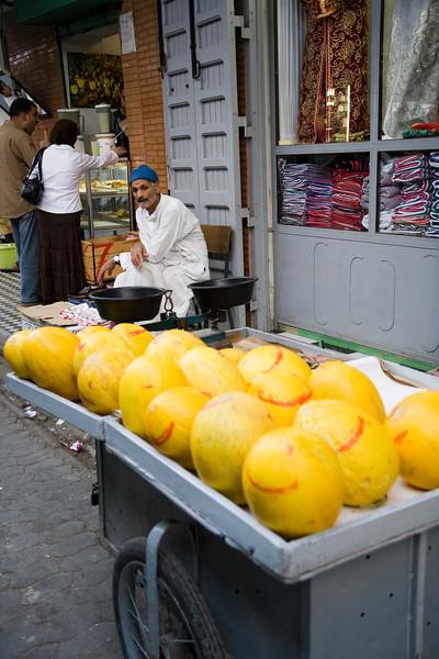 Melon seller, Tetouan medina, Morocco