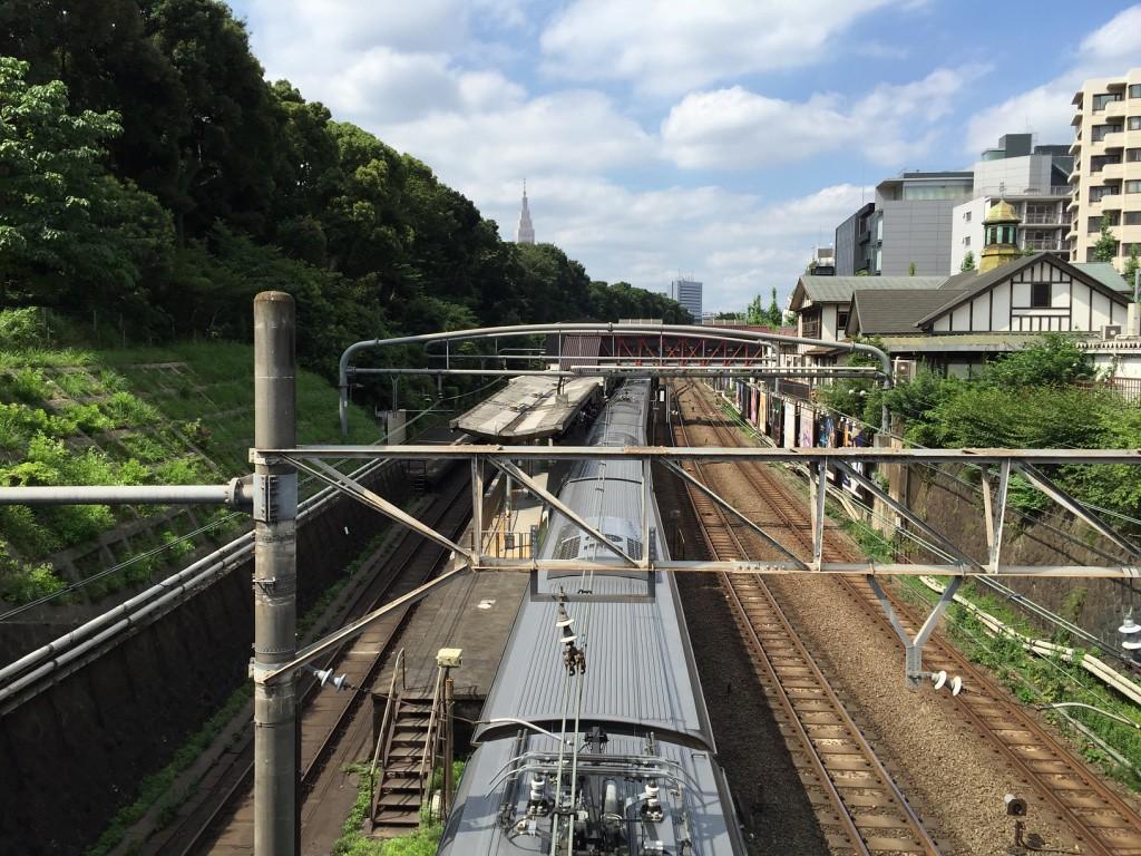 Yamanote train at Harajuku Station