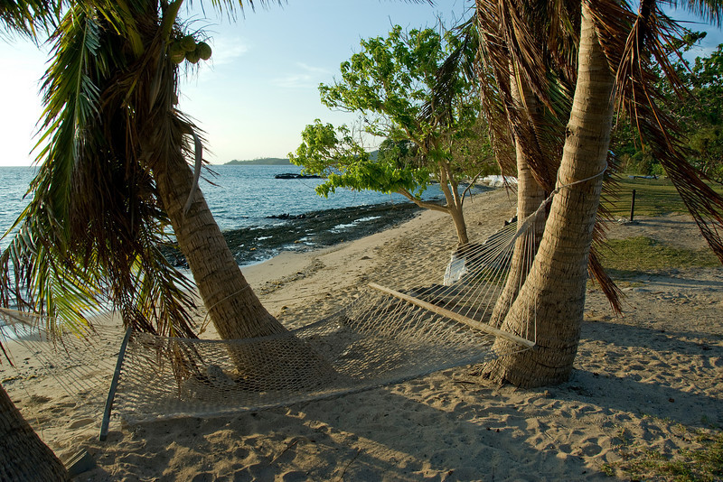 Hammock on a beach in Yasawa Islands, Fiji