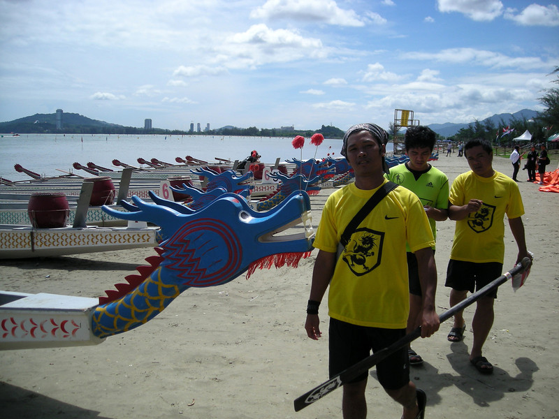 at the Dragon Boat Race near Koto Kinabalu