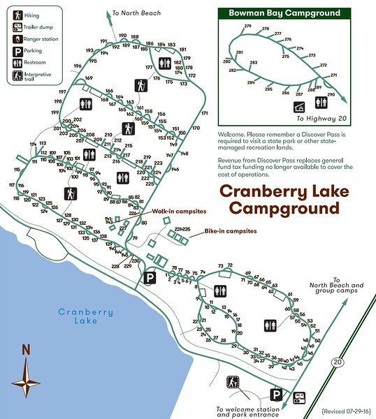 Deception Pass State Park (Cranberry Lake & Bowman Bay Campgrounds)