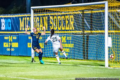 Best of UM Women's Soccer Vs Notre Dame 8-25-16