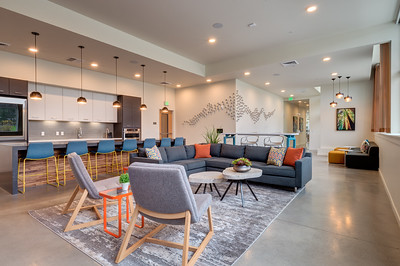 The Arbory Apartments, Hillsboro OR. - Amenity & Common Areas;  Client:  Myhre Group Architects, Portland OR.