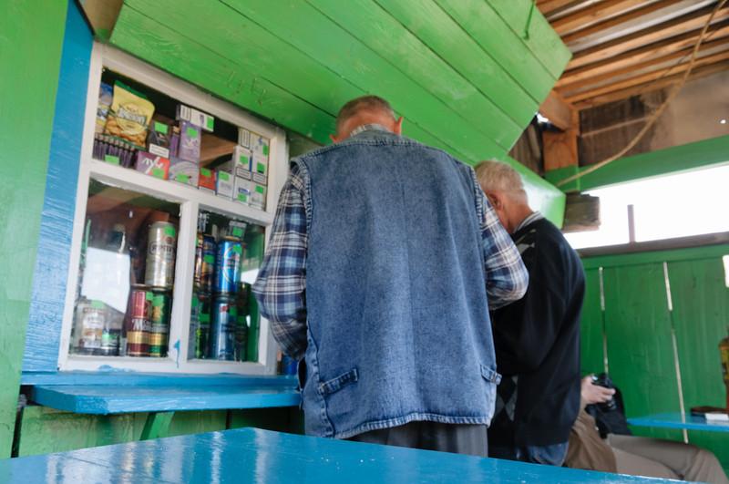 Dies ist das einzige Geschäft in Bolschie Koty.