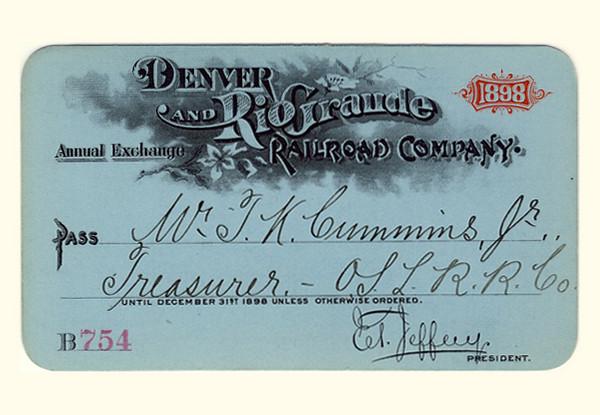 D&RG Railroad 1898