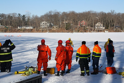 Bryam Township Ice Rescue Drill