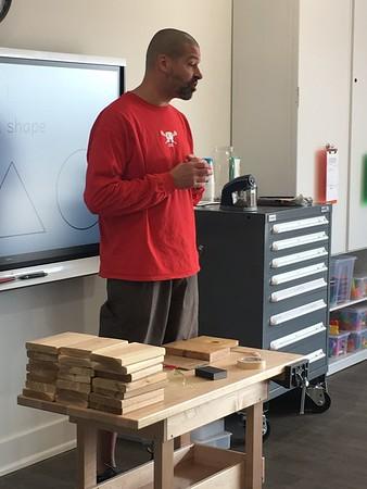 Tinker Lab: Mr. Grady Shoe Tying Board Project