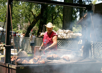 Willits Frontier Days BBQ in the park