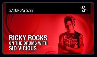 Ricky Rocks on the drums with DJ Sid Vicious @ Stingaree-San Diego 2.28.09