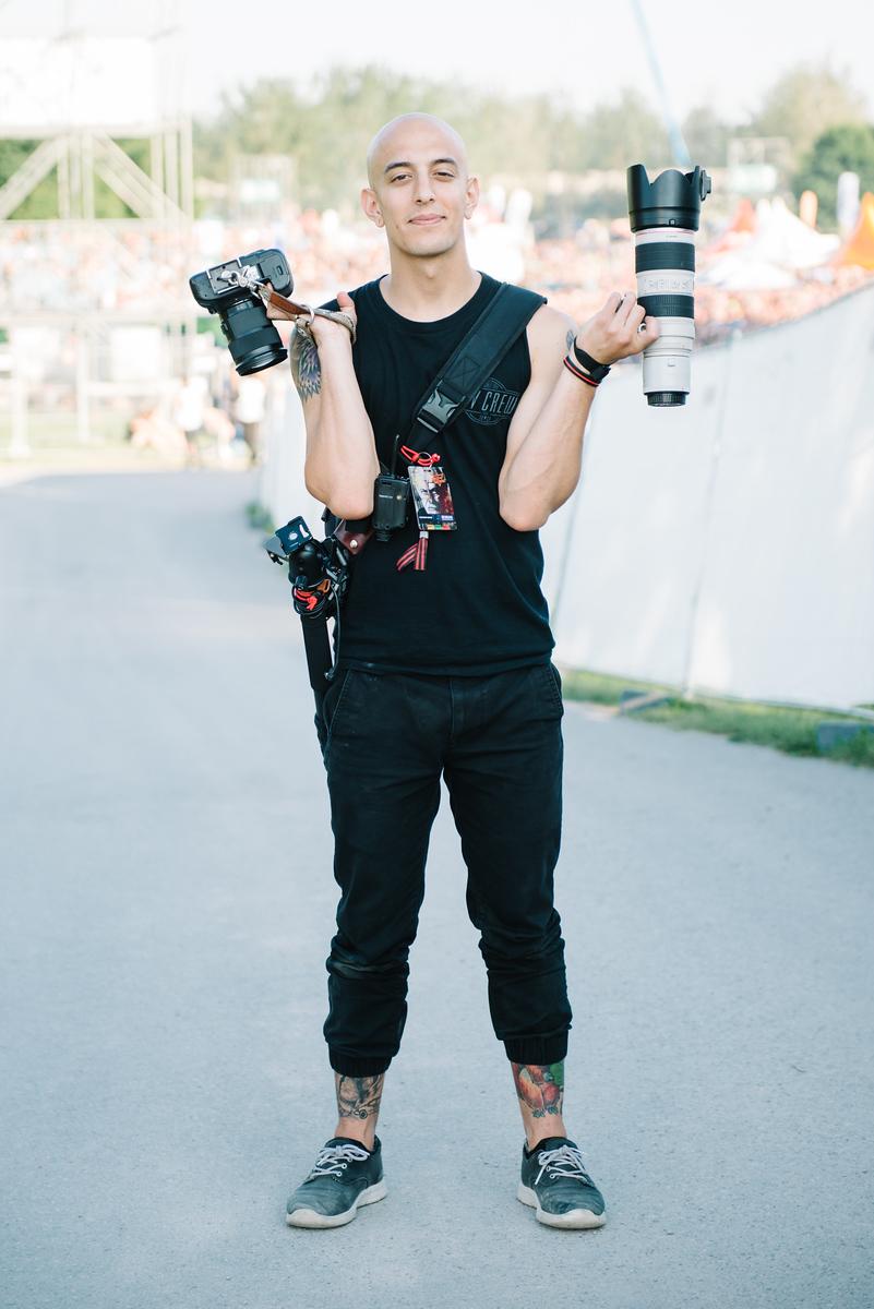 Adam Elmakias Gear, Photo by Matthias Hombauer - European Festivals