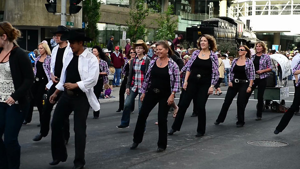 7 2013 July 5 Day 1 Stampede Parade Line Dance Video