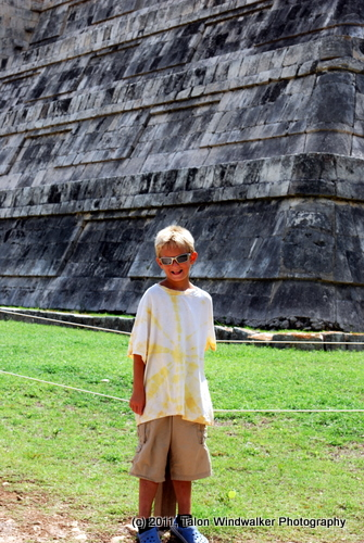 career break travel adventures in Mexico, Chichen Itza, 1 dad 1 kid
