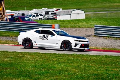 2021 SCCA Pitt Race Aug TT White 58 Camaro