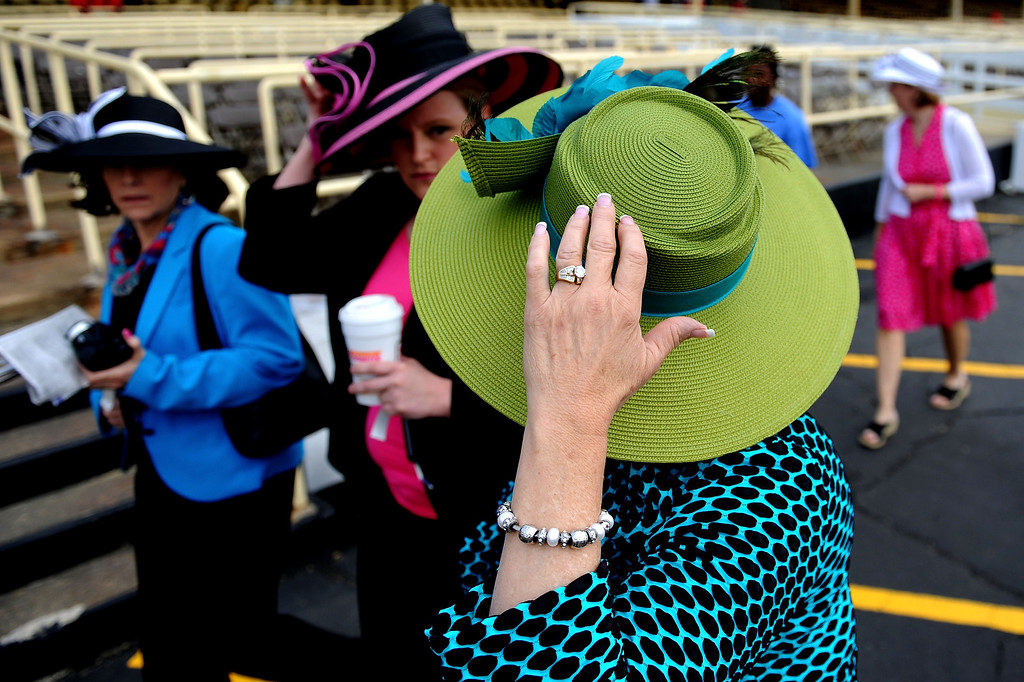 . BALTIMORE, MD - MAY 18:  Fans attend the 138th running of the Preakness Stakes at Pimlico Race Course on May 18, 2013 in Baltimore, Maryland.  (Photo by Patrick Smith/Getty Images)