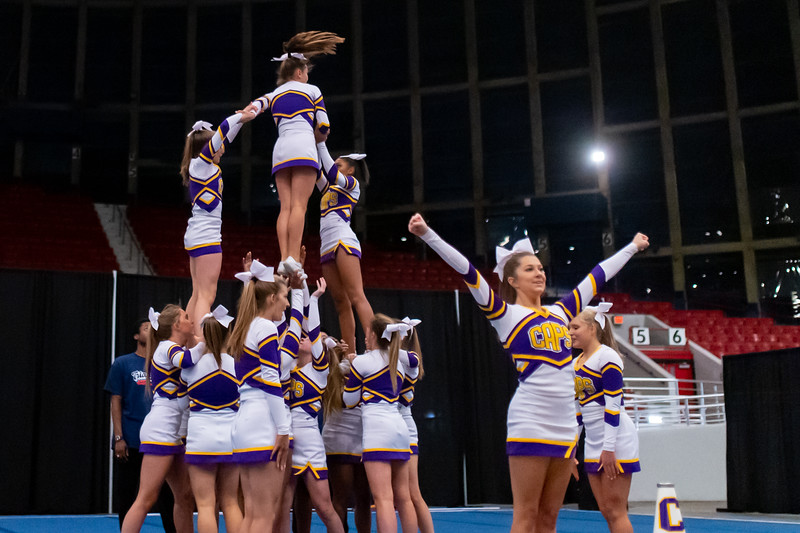 Broughton cheerleading Pre-States. November 16, 2019. D4S_1793