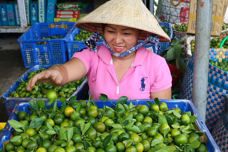 Limes are very popular in Vietnam, especially with the Pho soup