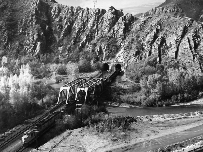 Tunnel 8 in Weber Canyon. <i>(Union Pacific Historical Collection)</i>