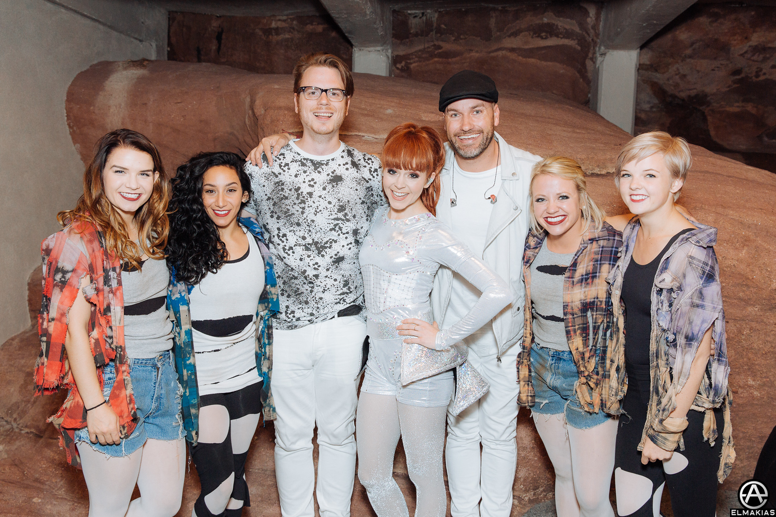 Lindsey Stirling, dancers, and band - all dressed up and ready for stage!