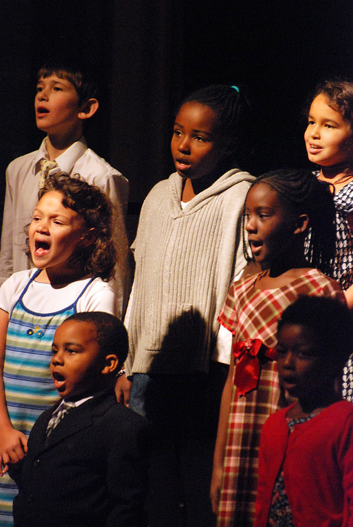 """. Kayla Rice/Reformer Students from Kurn Hattin School\'s beginning choir perform a medley of \""""God Bless America\"""", \""""This Land is Your Land\"""" and \""""We Shall Overcome\"""" during the school\'s Veterans Day Observance."""