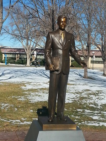Frank S. Hoag, Jr. Statue Dedication at Pueblo Community College