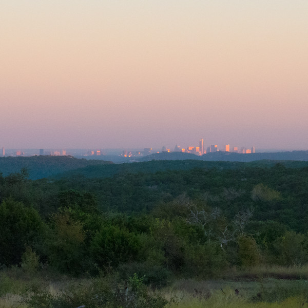 Austin from maybe 12 Miles Out