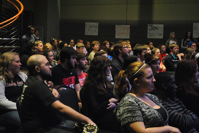 Student's watching Battle of the Bands.