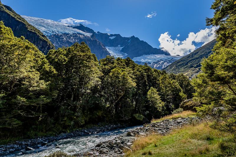 Auf dem «Rob Roy Glacier Valley Track»