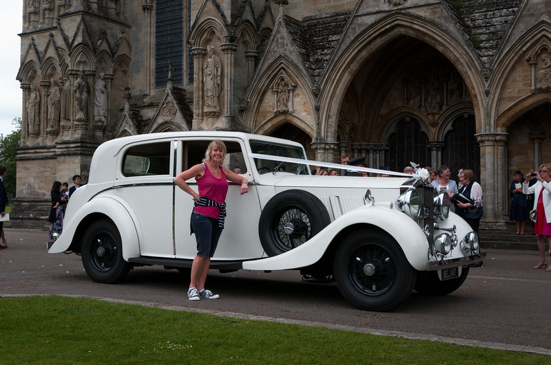 Wedding car, Salisbury Cathedral.