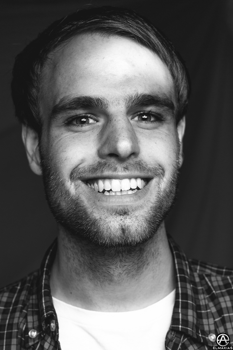 Photograph of Kyle Fasel of Real Friends by Adam Elmakias