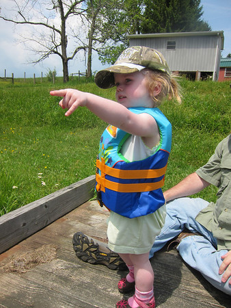 Fishing at Uncle Richard's pond