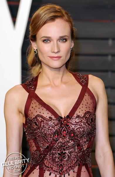 Diane Kruger Wears Lingerie Sheer Sequined See Through Reem Acra Gown, LA