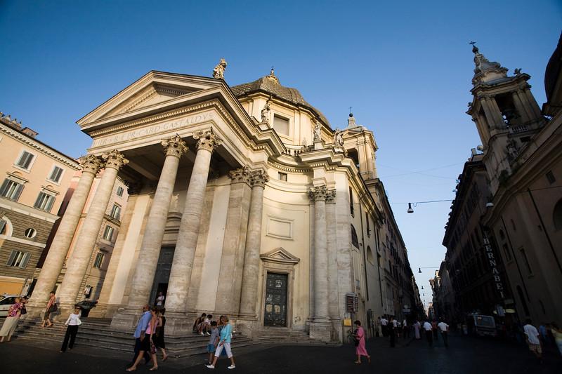 Santa Maria in Montesanto church, Piazza del Popolo, Rome