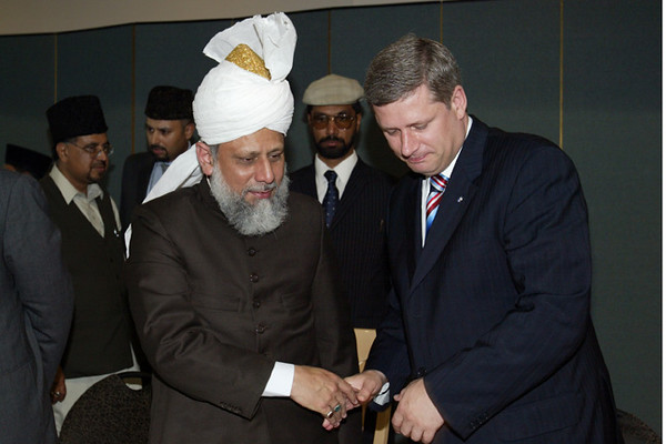 Conservative Oppostion Party Leader with Hazrat Sahib