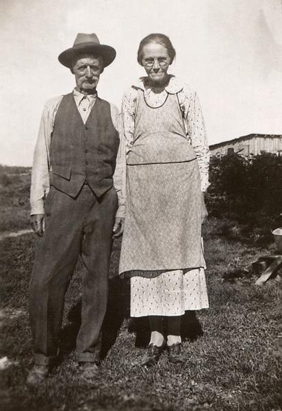 "Back of photo says: ""Mike Doss, Sarah, Mtn Grove"""