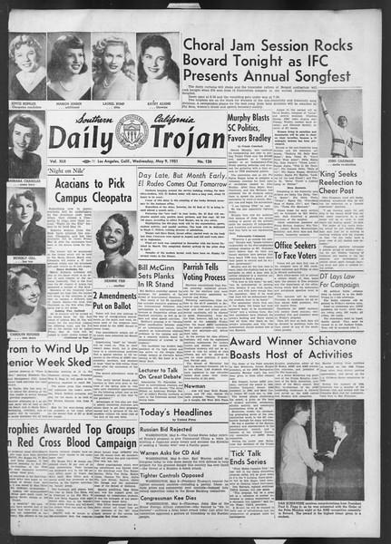 Daily Trojan, Vol. 42, No. 126, May 09, 1951