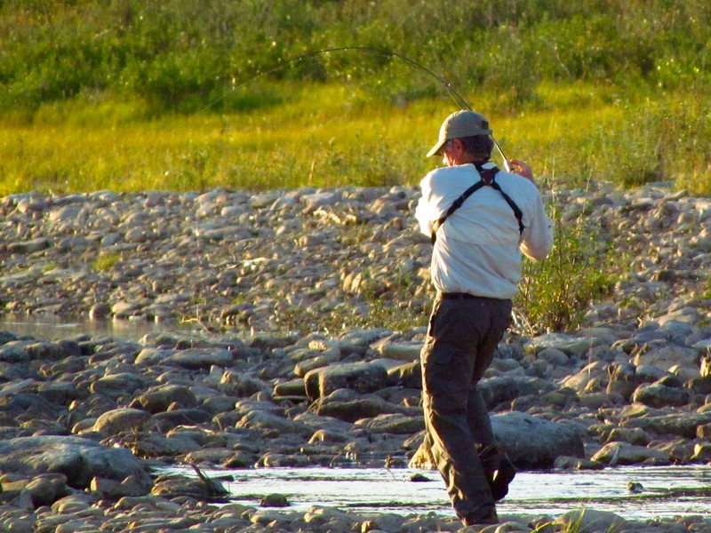 Brian was also designated fisherman.  He did well, though gear was a little light for Arctic Char.