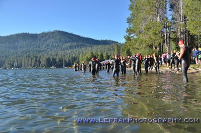 Donner Lake Olympic and Half Triathlon 2013 Swim