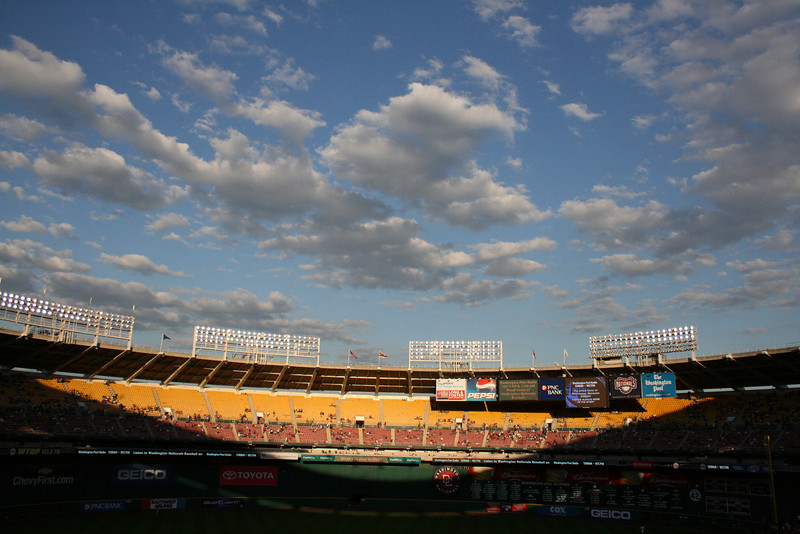 A beautiful night for baseball