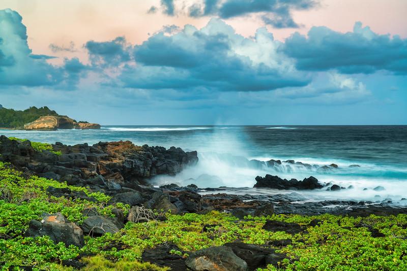 Dusk Sky Over Shipwreck Beach