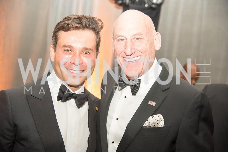 Antonio Alves, Donald Hoffman, Harvard Business School, Leadership Gala, DC, The Four Seasons, June 13, 2018.  Photo by Ben Droz.