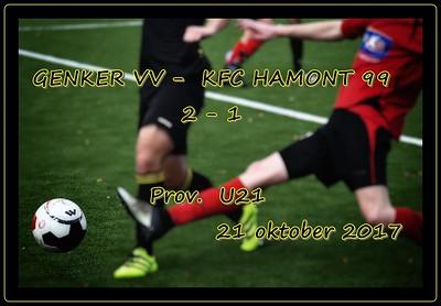Genker VV- KFC Hamont 99  U21  22/10/2017
