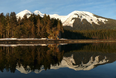 Evening Light and Incredible Reflection February 2011, Cynthia Meyer, Tenakee Springs, Alaska