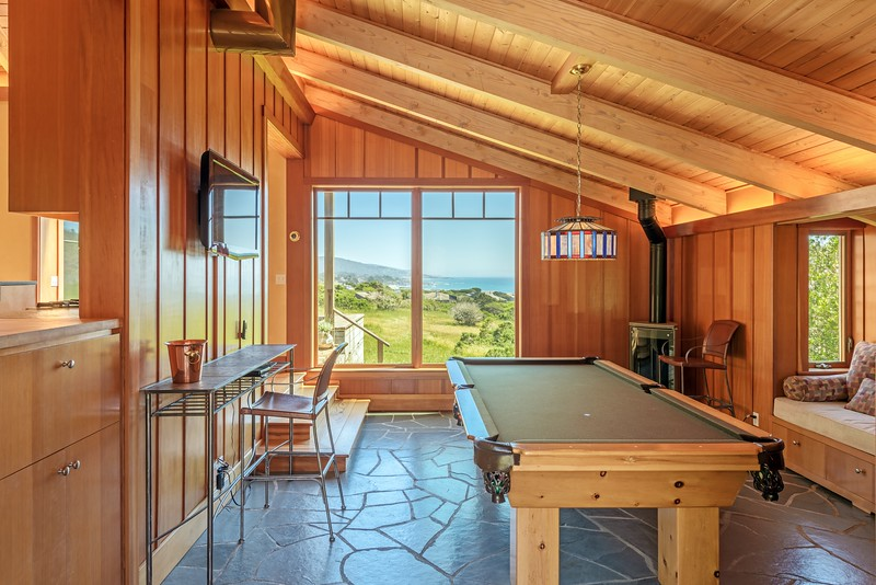 Game Room with Ocean Views