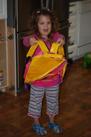 Hanna's first day of preschool: 9/1/09