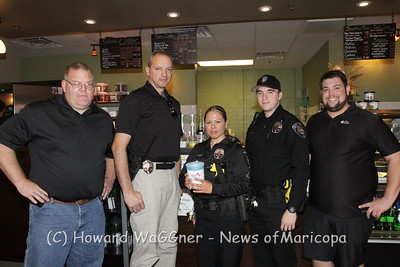 Shop With A Cop @ Honneycut Coffee 11-30-13