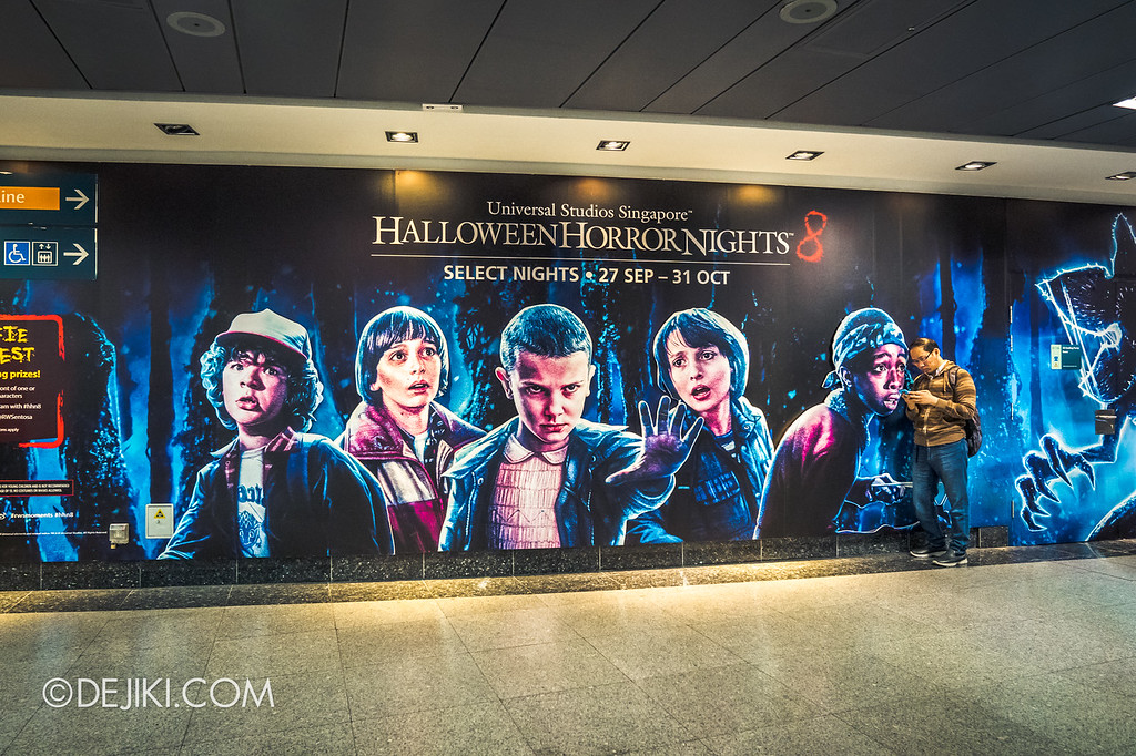 Universal Studios Singapore Halloween Horror Nights 8 / Stranger Things advertisement