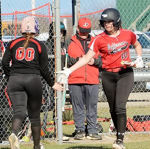 Girard at Jefferson girls softball April 9, 2019